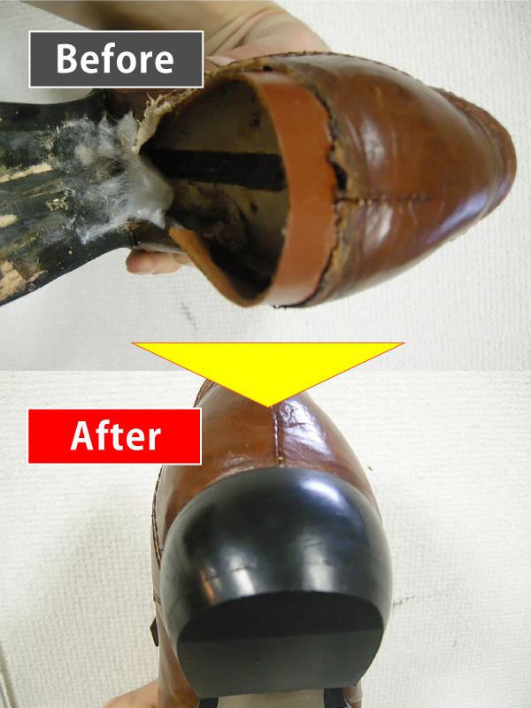 皮補強+かかと修理